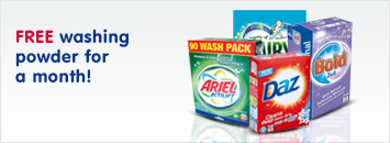 FREE washing powder for a month!